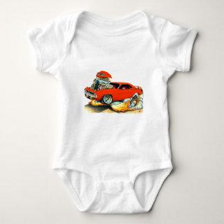 1970 Plymouth Cuda Red Car Baby Bodysuit