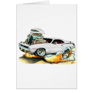 1970 Plymouth Cuda White Car Card