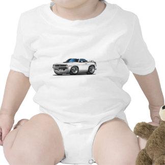 1970 Plymouth Cuda White Car Tee Shirts