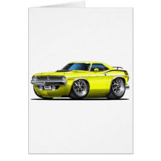 1970 Plymouth Cuda Yellow Car Card