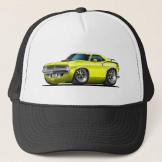 1970 Plymouth Cuda Yellow Car Trucker Hat