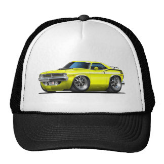 1970 Plymouth Cuda Yellow Car Trucker Hat