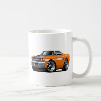 1970 Plymouth GTX Orange-White Top Car Coffee Mug