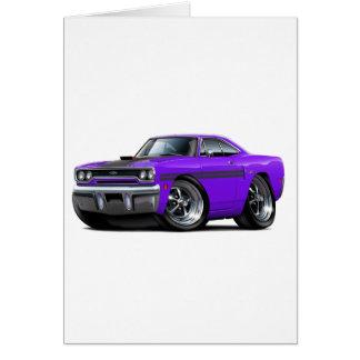 1970 Plymouth GTX Purple-Black Car Card