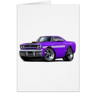 1970 Plymouth GTX Purple-White Car Card