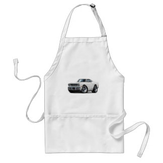 1970 Plymouth GTX White Car Adult Apron