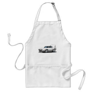 1970 Plymouth Superbird White Car Adult Apron