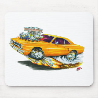 1970 Roadrunner Orange Car Mouse Pad