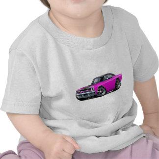 1970 Roadrunner Pink-Black Top Tee Shirts