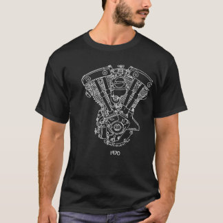 1970 Shovelhead V-Twin Engine T-Shirt
