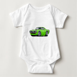 1970 Super Bee Lime-Black C-Stripe Scoop Hood Baby Bodysuit