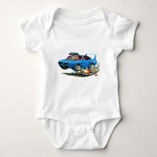 1970 Superbird Blue Car Baby Bodysuit