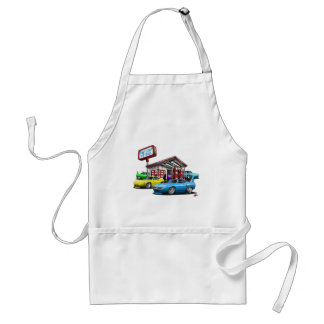 1970 Superbird Gas Station Adult Apron