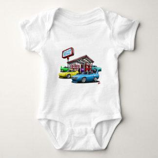 1970 Superbird Gas Station Baby Bodysuit