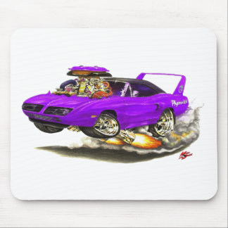 1970 Superbird Purple Car Mouse Pad