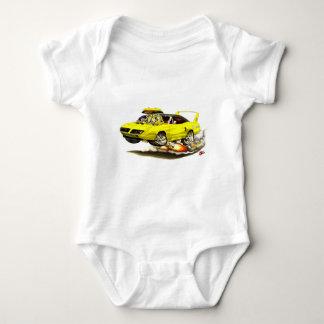 1970 Superbird Yellow Car Baby Bodysuit