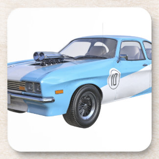 1970's Blue and White Muscle Car Coaster