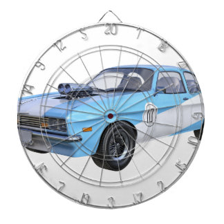 1970's Blue and White Muscle Car Dartboard