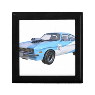 1970's Blue and White Muscle Car Gift Box