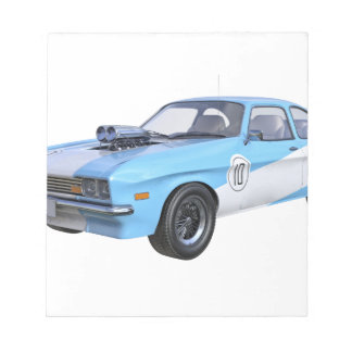 1970's Blue and White Muscle Car Notepad