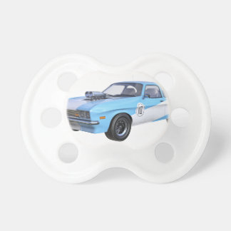 1970's Blue and White Muscle Car Pacifier
