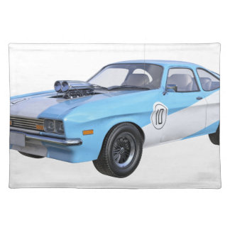 1970's Blue and White Muscle Car Placemat