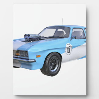 1970's Blue and White Muscle Car Plaque