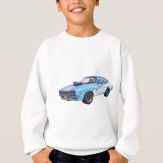 1970's Blue and White Muscle Car Sweatshirt