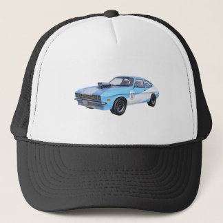 1970's Blue and White Muscle Car Trucker Hat