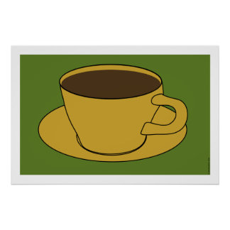 1970's Coffee Cup Pop Art poster