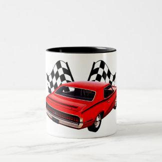 1970s Fast Cat Two-Tone Coffee Mug