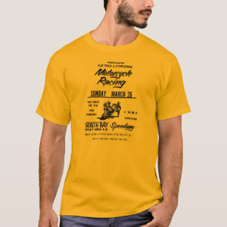 1970s Flat Track & Steeplechase Motorcycle Poster T-Shirt