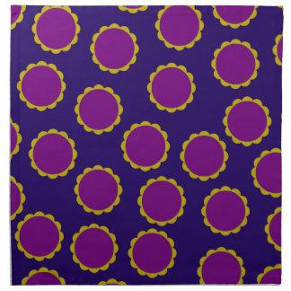 1970s Flower Power Retro Hippy Print Napkin