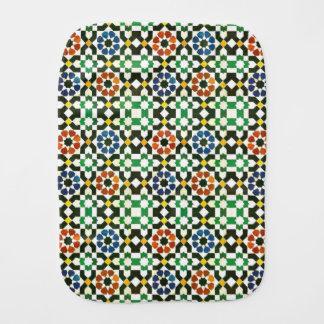 1970s Moroccan Color Pattern Burp Cloths