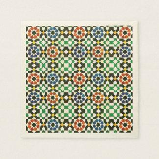 1970s Moroccan Color Pattern Paper Napkin