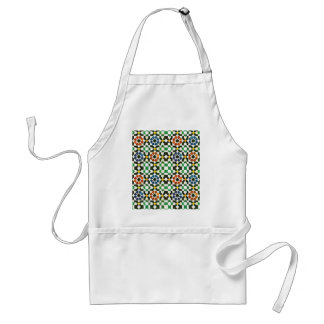 1970s Moroccan Color Pattern Standard Apron