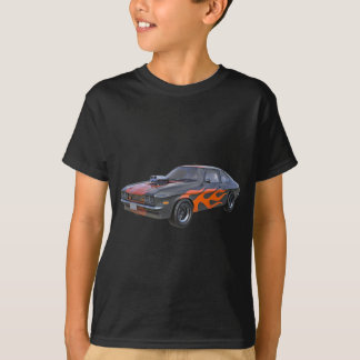 1970's Muscle Car with Orange Flame and Black T-Shirt