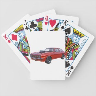 1970's Red Muscle Car Bicycle Playing Cards