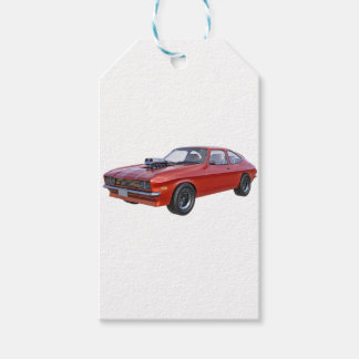 1970's Red Muscle Car Gift Tags