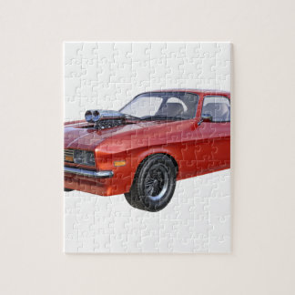 1970's Red Muscle Car Jigsaw Puzzle