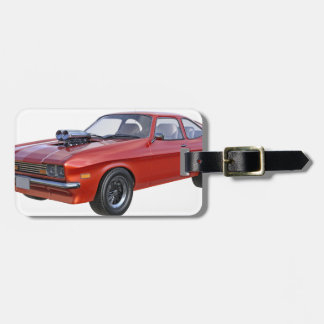 1970's Red Muscle Car Luggage Tag