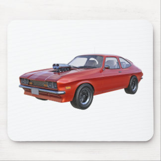1970's Red Muscle Car Mouse Pad