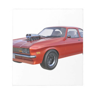 1970's Red Muscle Car Notepad