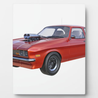 1970's Red Muscle Car Plaque
