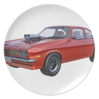 1970's Red Muscle Car Plate