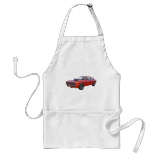 1970's Red Muscle Car Standard Apron