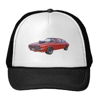 1970's Red Muscle Car Trucker Hat