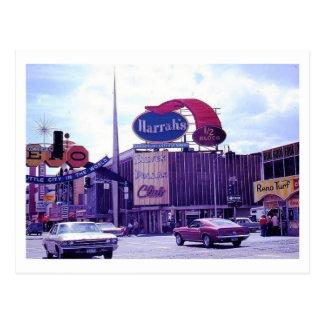 1970s Reno Nevada Street Scene Postcard