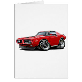 1971-72 Charger Red-Black Car Card