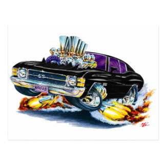 1971-72 Chevelle Black Car Postcard